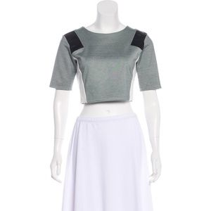 NAME YOUR PRICE Michelle Mason Colorblock Crop Top